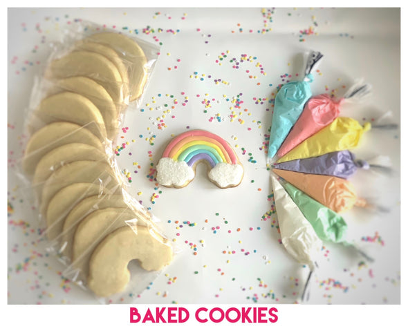 BakesyKit Rainbow Cookie Kit (Baked Cookies) - Flowerbake by Angela
