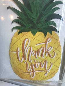 Pineapple Die Cut Card - Flowerbake by Angela