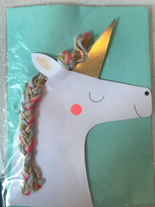 Unicorn braid Card - Flowerbake by Angela