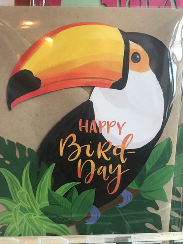 Toucan Die Cut Card