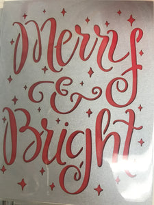 Merry and Bright Card - Flowerbake by Angela
