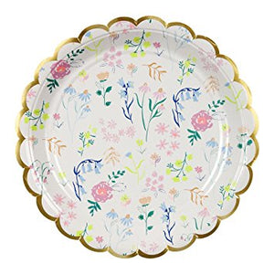 Wildflower Pattern Large Plates - Flowerbake by Angela