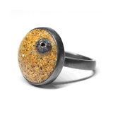 Sunken Island Ring - Golden Sand - Size 8