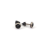 Tiny Sand Stud Earrings - Dark Grey