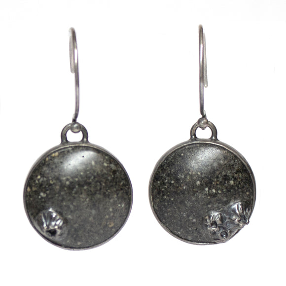Lagoon Earrings - Black Sand