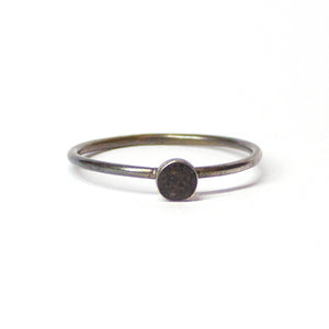 Tiny Stacking Ring - Black - Size 9.25