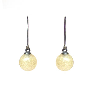 Droplet Earrings - Translucent White Sand