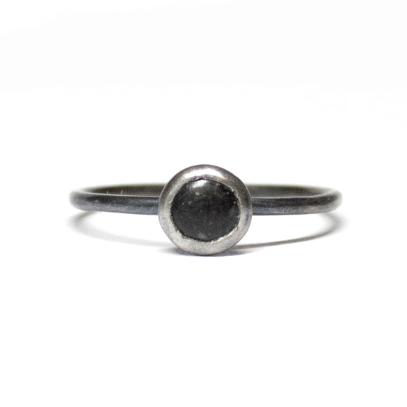 Stacking Ring - Black- Size 7.75