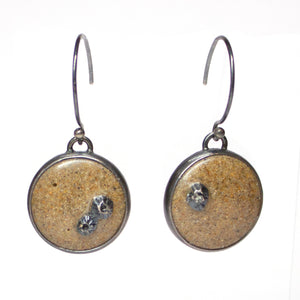 Lagoon Earrings - Fine Grained Gold Sand