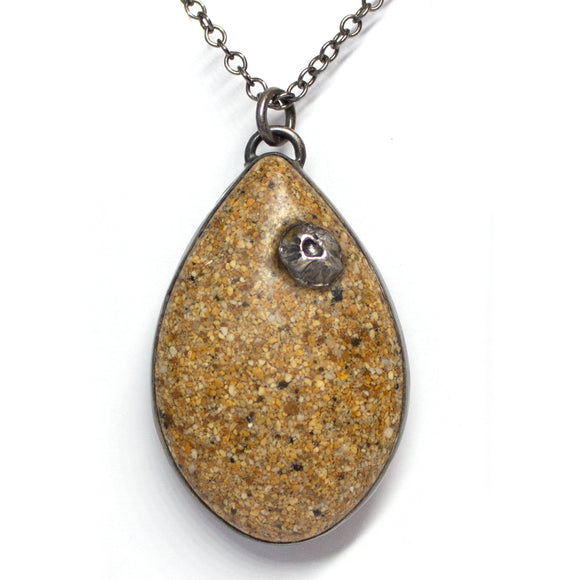 Large Teardrop Pendant - Golden Sand