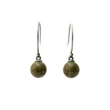 Droplet Earrings - Brown