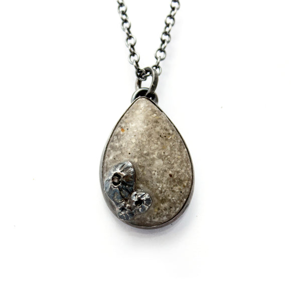 Teardrop Pendant - White
