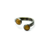 Twisted Open Dot Ring - Sahara Gold - Size 5