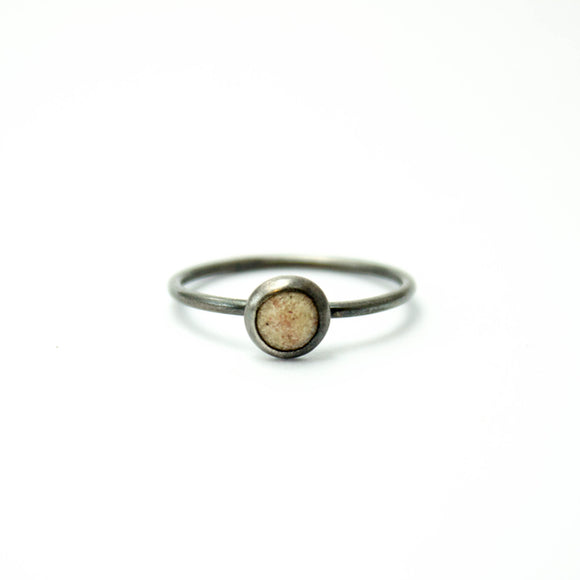 Stacking Ring - Opaque White - Size 7.25
