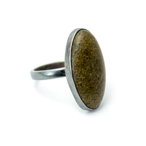 Sand and Silver Ring - Brown - Size 9.5