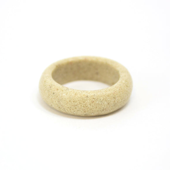 Sand Band Ring - Ivory Sand