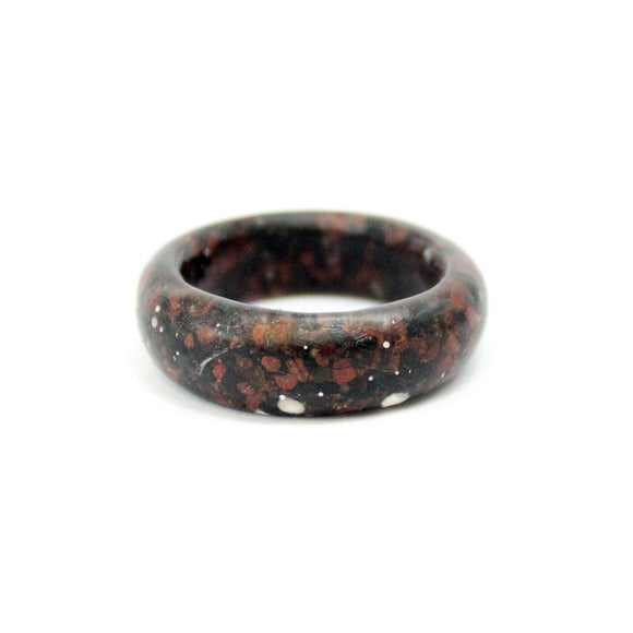 Sand Band Ring - Black and Red Sand