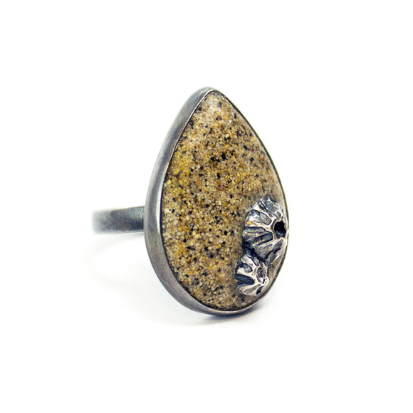Teardrop Ring - Golden Sand - Size 7.5