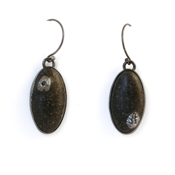 Shoreline Earrings - Black Sand
