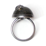 Island Ring - Black Sand - Size 9
