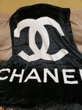 CHANEL Black Throwing Blanket
