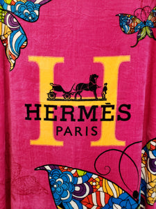 HERMES PARIS Throwing Blanket