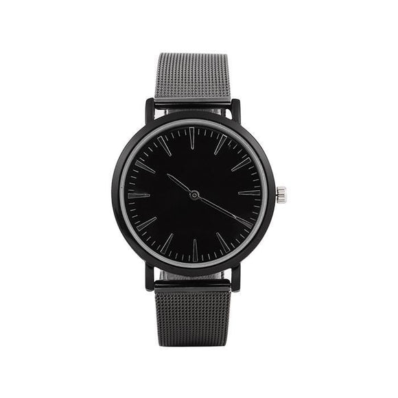 Quartz Slim with Watch Design Simple Mesh Wrist Men Steel Stainless Band Watches