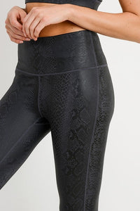 """Black Mamba"" Snakeskin Leggings"