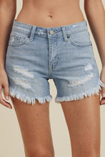 "Load image into Gallery viewer, ""Live in the Sun"" Denim Shorts"