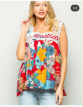 "Load image into Gallery viewer, ""Flower Child"" Summer Tank"