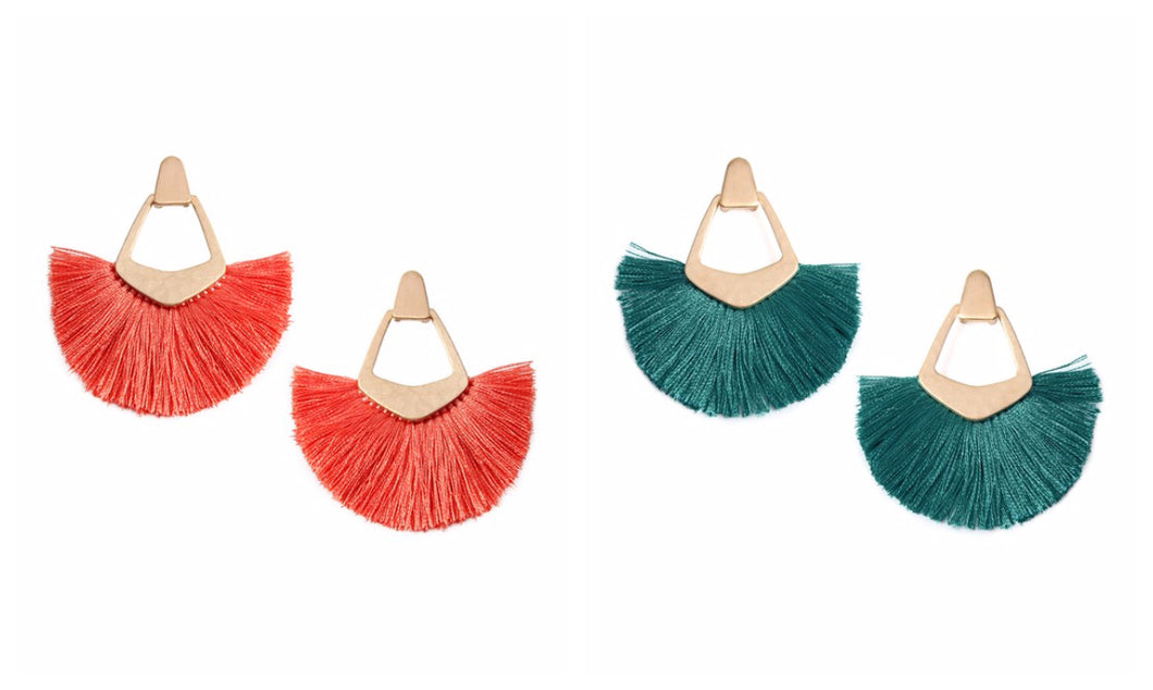 Bohemian Tassel Post Earrings