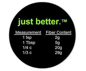 just better.® NUTRITION FACTS