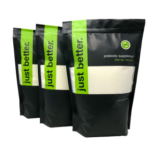 BEST VALUE! 3 Pack - 1200g Stand Up Zipper Pouch - just better.® prebiotic supplement (About 200 servings per pouch) Save 15%!