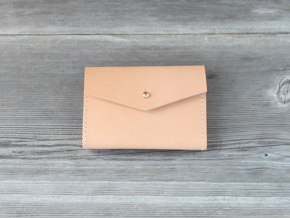 Short Nude Leather Wallet
