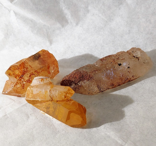 Tangerine Quartz - raw points