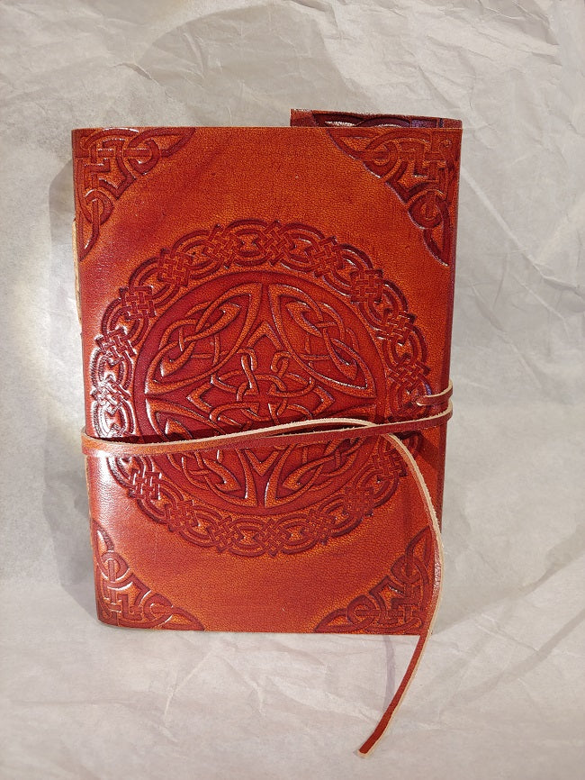 Leather Celtic Knot notebook - blank