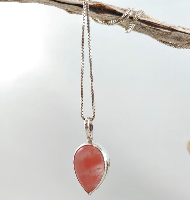 Cherry Quartz pendant