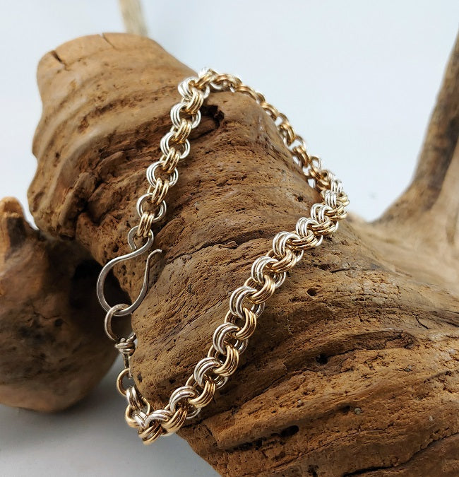 2 in 2 bracelet - silver and 14k goldfill