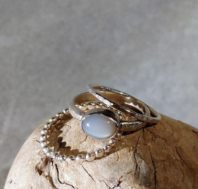 3-band stacking set - Moonstone