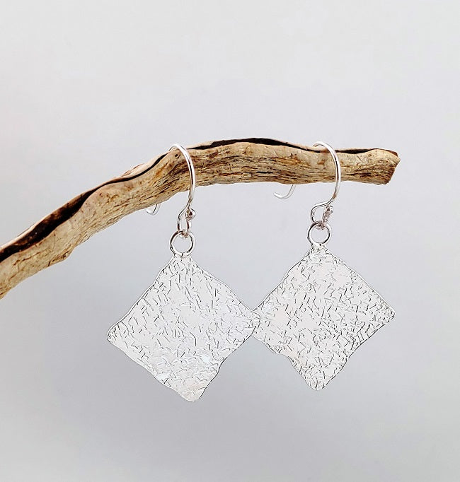 Hammered Kite Earrings