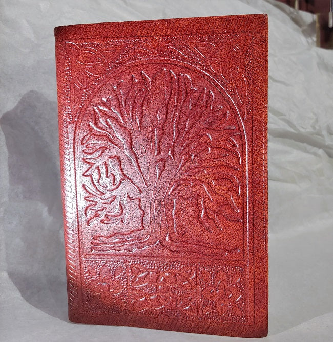 Tree of Life - leather blank notebook