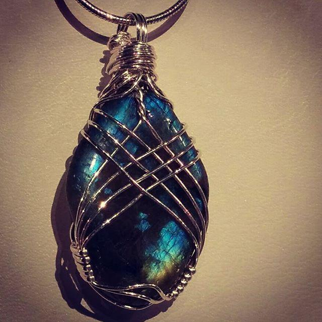 Crossover Wire Wrapped Freeform Labradorite