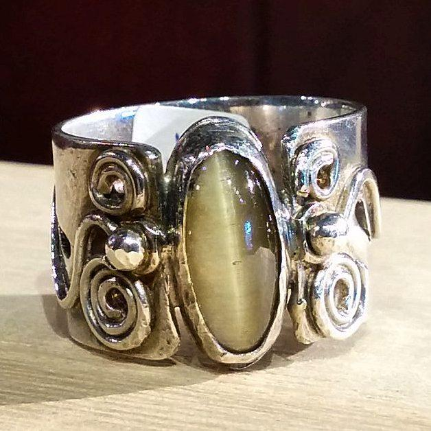 Cat's Eye Swirl Ring