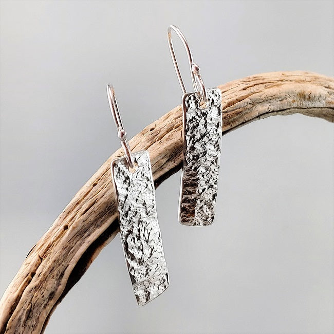 Organic Silver earrings