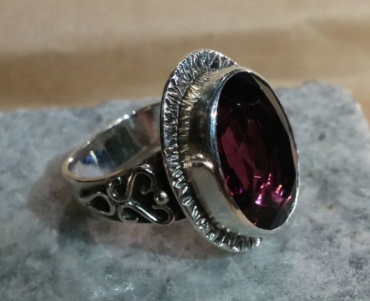 Amethyst glass ring - Custom design
