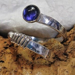 Sterling and Iolite wrap ring