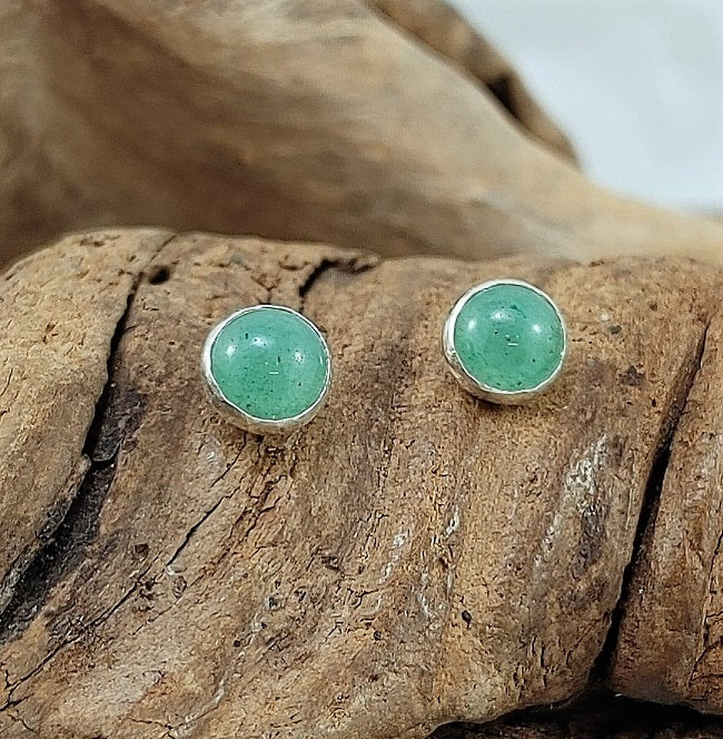 Stone studs - 6mm - Aventurine and Turquoise