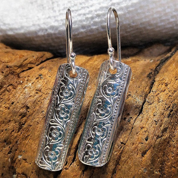 Patterned sterling earrings