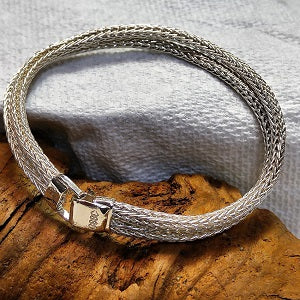 Sterling Viking weave bracelet