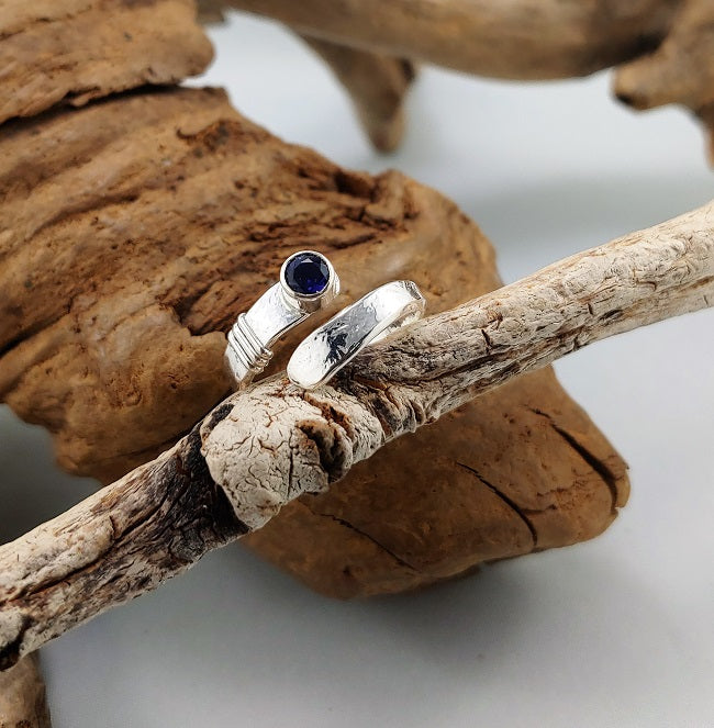 Iolite wrap ring - adjustable